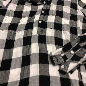 SO Tops - Black and white checkered shirt